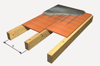 Preu en espanya de m de forjat de biguetes de fusta i entrebigat amb solera cer mica generador - Forjados de madera laminada ...